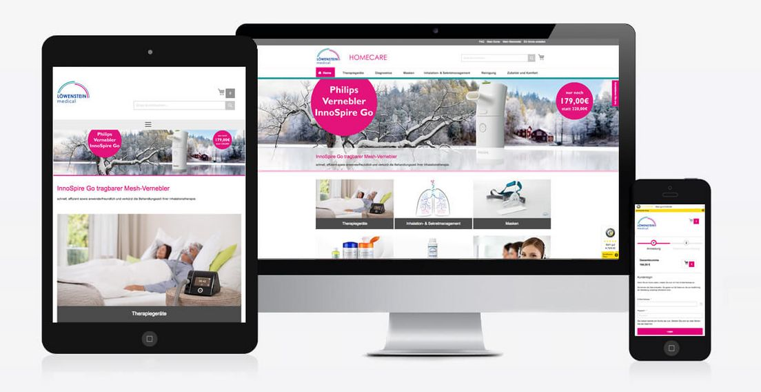 Magento Online-Shop Löwenstein Medical Homecare GmbH, Bad Ems