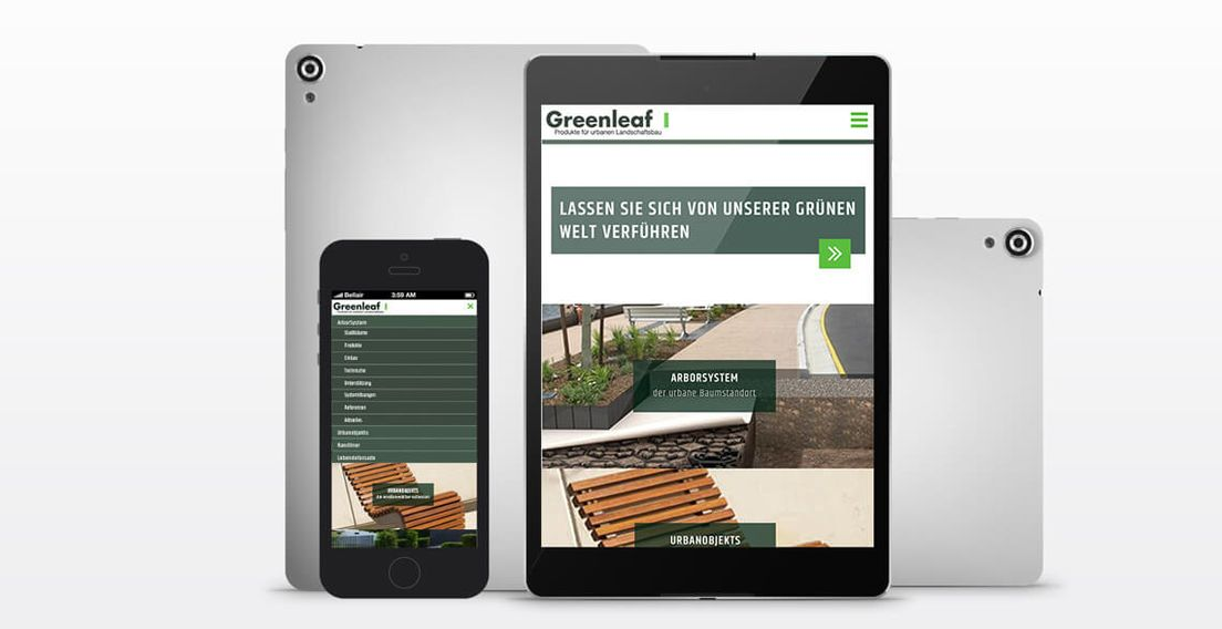 greenleaf WordPress Webseite